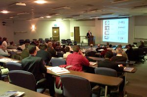Classroom-style presentations are given by recognized experts in the field.