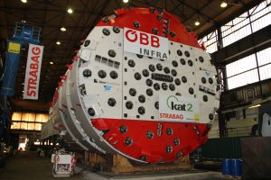 First tunnel boring machine for the KAT2 (Koralm tunnel, construction lot 2) tunnel construction project in Austria.