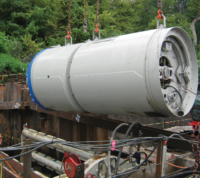 Nada Pacific crews began microtunneling in September 2013.