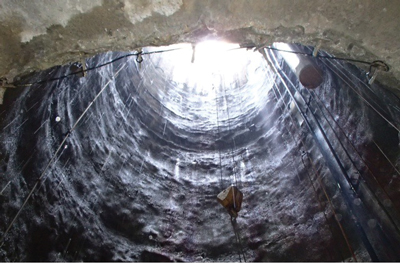 One of several dry Phase 2 shafts. Courtesy Brierley Associates.