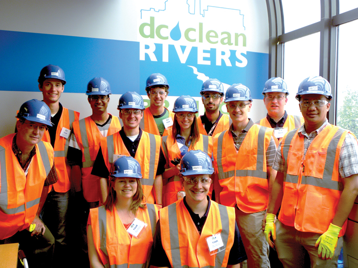 Students visit the Blue Plains Tunnel project in Washington, D.C.