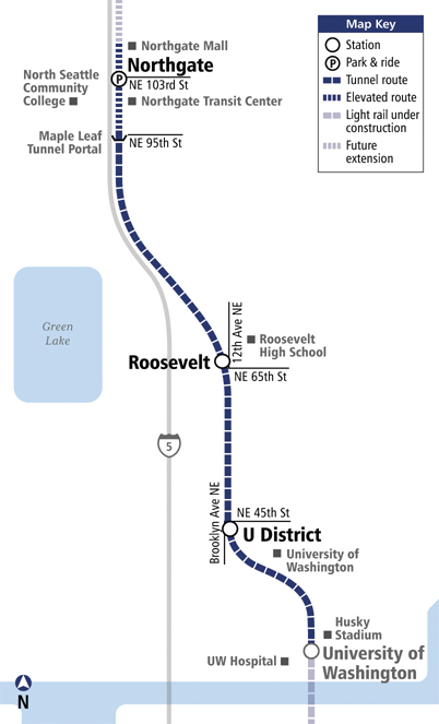 Northgate Link Map