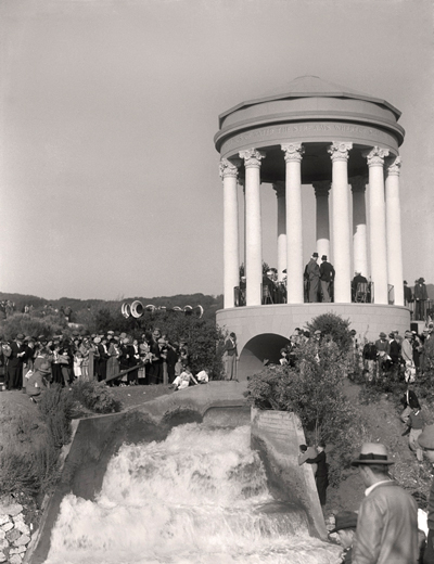 Pulgas Water Temple in October 1934
