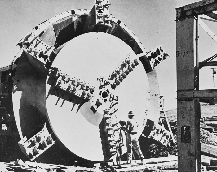 In 1952, James S. Robbins developed the first modern tunnel boring machine