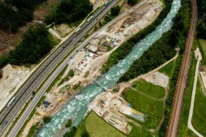 Brenner base tunnel-Isarco River