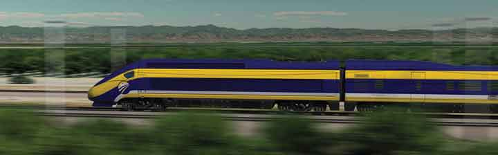 When completed, California High-Speed Rail Authority trains will travel between San Francisco and Los Angeles at speeds of more than 200 miles per hour, completing the journey in less than three hours.