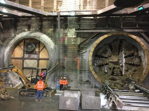 Crenshaw/LAX TBM Arrives at Leimert Park Station