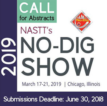 Call for Abstracts: NASTT's 2019 No-Dig Show