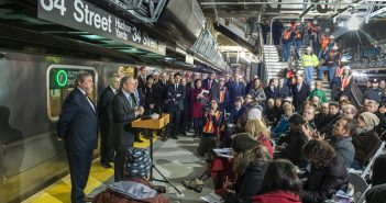 Mayor Michael R. Bloomberg joined MTA officials