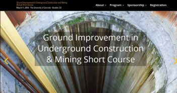 Dates Set for 4th Annual Ground Improvement in Underground Construction and Mining Short Course
