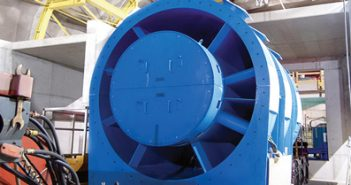 Large fans specially developed and manufactured by TLT-Turbo GmbH provide fresh air in the Gotthard Base Tunnel.