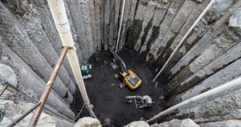 Access shaft for Bertha's rescue