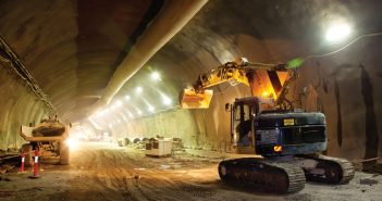 construction equipment in tunnel