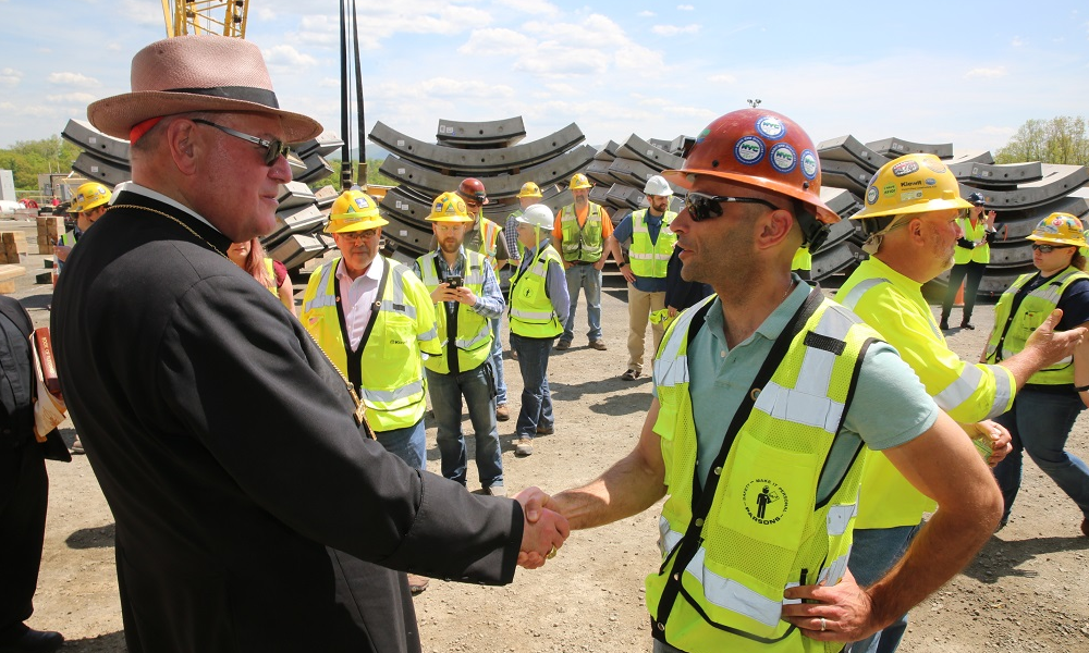 Cardinal Dolan Visits Workers at New York City's Delaware Aqueduct Bypass Tunnel