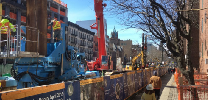 Giken Assists in Manhattan's First Press-in Project