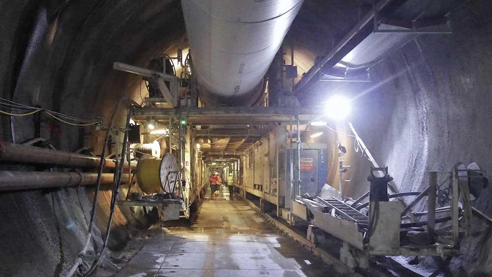 Brenner Base Tunnel back-up system