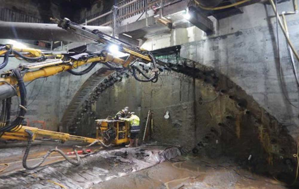Chinatown Station cavern excavation
