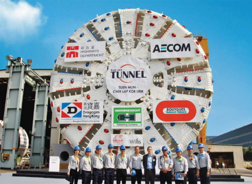 TBM for the TM-CLK undersea tunnel, Hong Kong