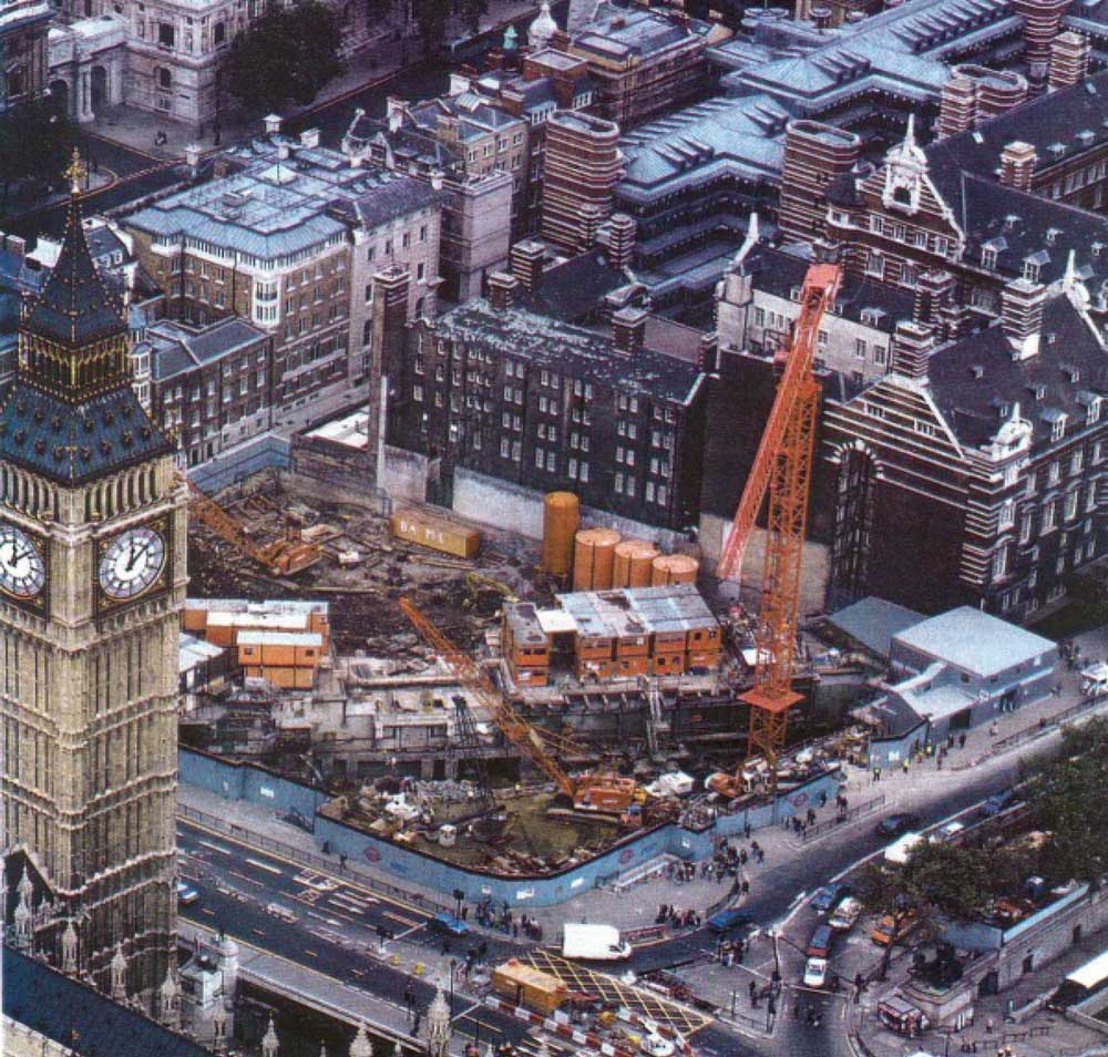 Construction of the Jubilee Line at the Westminster site