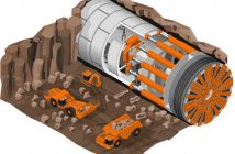 tunnel boring machine illustration