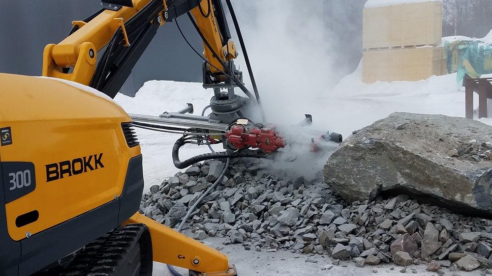 Brokk Introduces MMB326 Hydraulic Drifter Rock Drill
