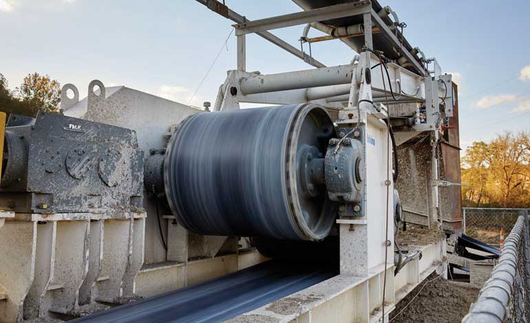 Behind the Crossover TBM was a Robbins' 100th Continuous Conveyor system