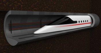 train in a tunnel illustration
