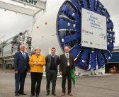 German Chancellor Merkel Visits Herrenknecht Plant in Schwanau