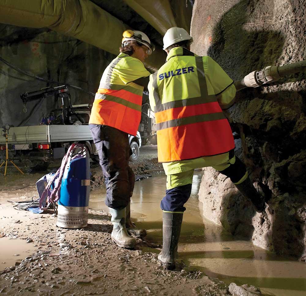 Dewatering installation with Sulzer XJ drainage pump