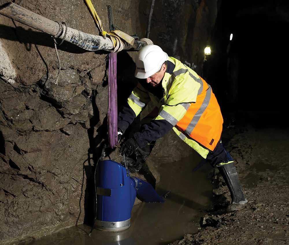 Dewatering with Sulzer XJ drainage pump