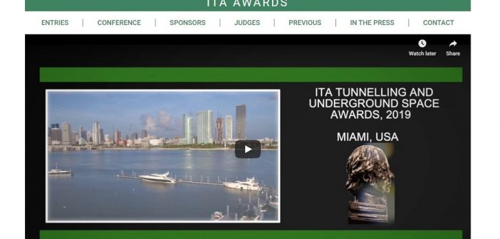 Deadline Approaching for ITA Tunnelling Awards 2020