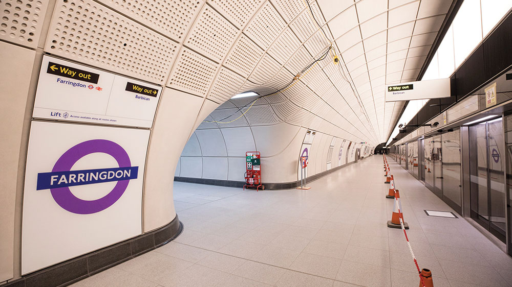 Crossrail was built in the heart of London