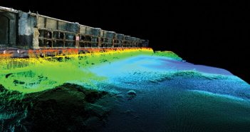 A combined image of LiDAR and sonar data