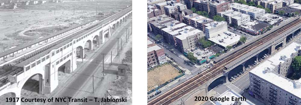 The extension of the Flushing Line along Queens Boulevard