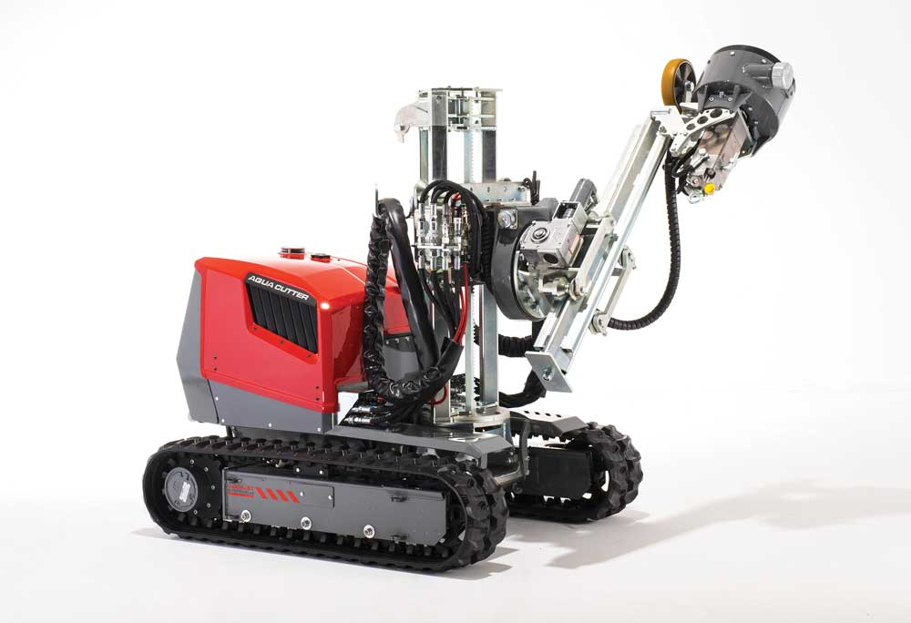 Remote-controlled demolition machines