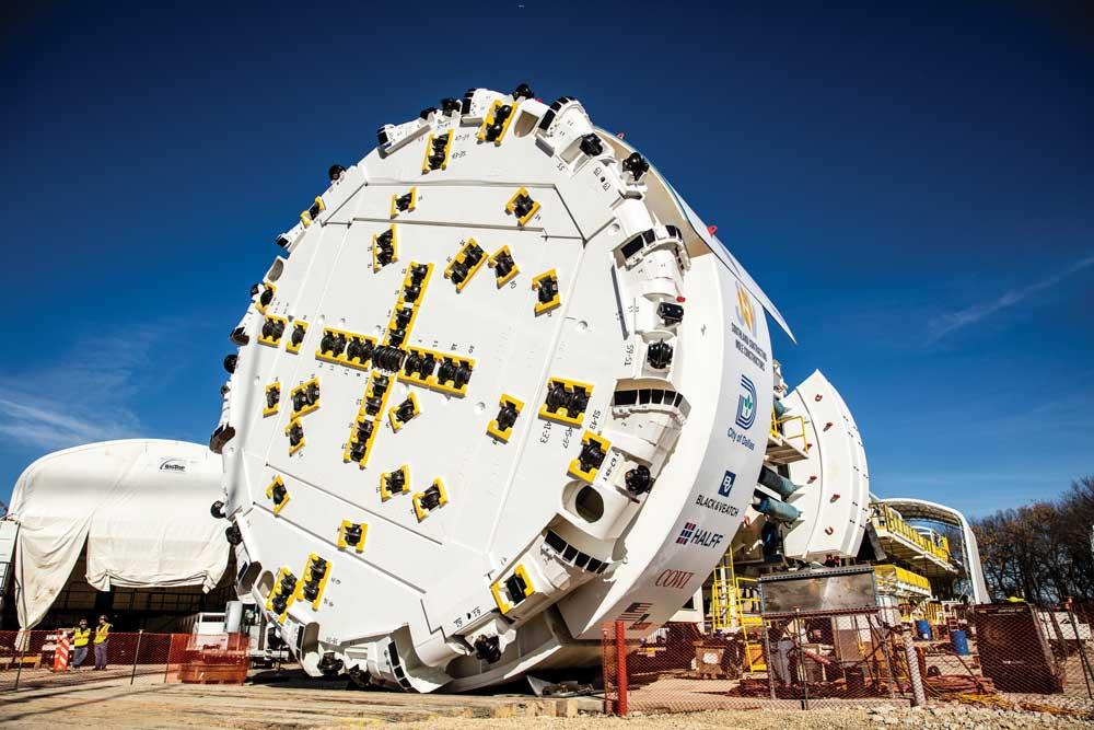 The original, 11.6 m diameter machine during its acceptance ceremony
