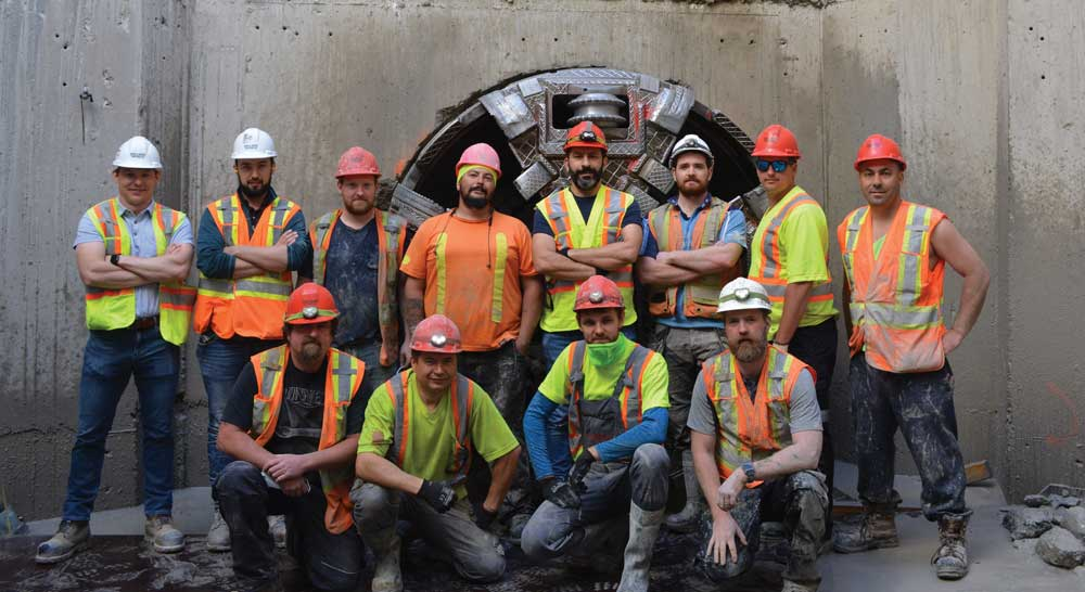 The YDSS microtunneling team