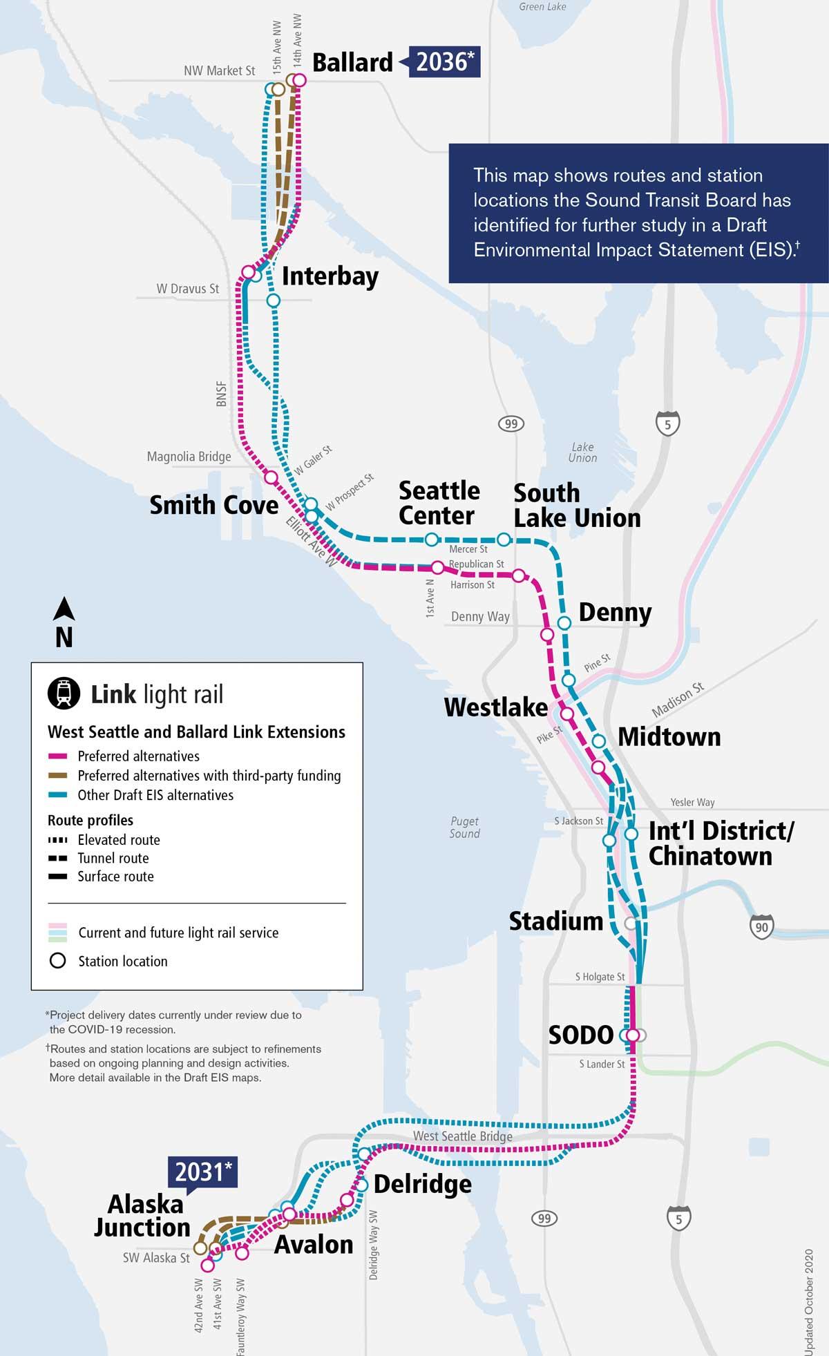 Seattle, Washington - West Seattle and Ballard Link Extensions